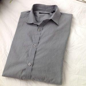 Theory men's button up dress shirt S lightweight